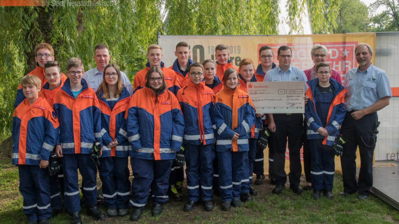 Jugendgruppe erhielt großzügige Spende