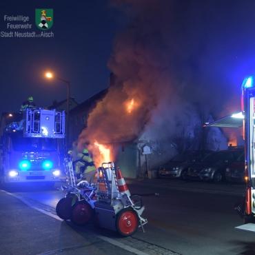 Eilmeldung: Wohnhausbrand in Birkenfeld (01.01.2020)