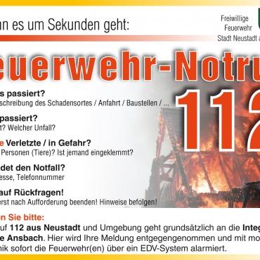 (Feuerwehr-)Notruf 112