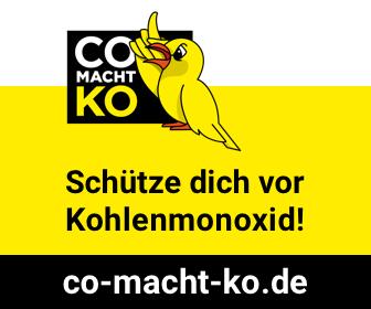 Vermeiden Sie Kohlenmonoxid-Vergiftungen!