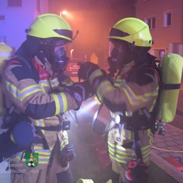 Zimmerbrand in der Malstraße (Einsatzübung)