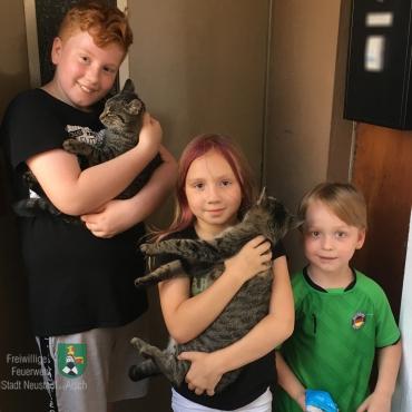 Katze gerettet, Kinder glücklich (06.08.2020, 15:17 Uhr)