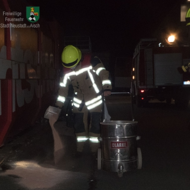 Hydrauliköl ausgelaufen (12.08.2020, 0:34 Uhr)