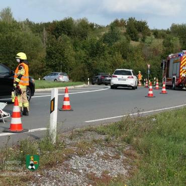 Verkehrsunfall auf der B 8 (12.09.2020, 14:30 Uhr)