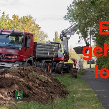 """""""Baggerstich"""" fürs neue Gerätehaus"""