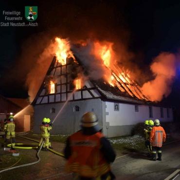 Eilmeldung: Wohnhausbrand in Schauerheim (31.01.2021)