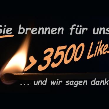 3.500 Facebook-Fans!