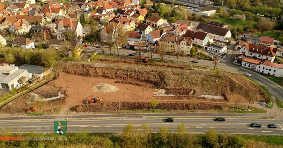 Baugelände gerodet (April 2021)