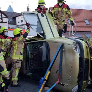 Unfall auf dem Feuerwehrhof (24.08.2021)