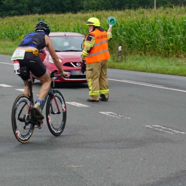 Feuerwehr sicherte Triathlon-Wettkampf (29.08.2021)
