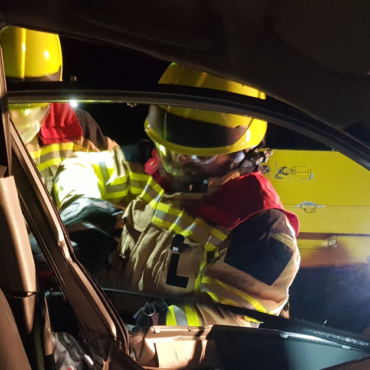 Rettung nach Verkehrsunfall (Übung)